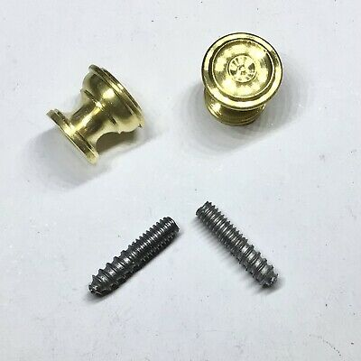 "9/16"" Decorative Piano Fallboard/Key Cover/Desk Knobs, 1 Pair, Solid Brass"