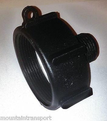 "275 - 330 gallon IBC POLY Tank ADAPTER 2"" FINE  (2""NPT) x  3/4""GARDEN HOSE new"