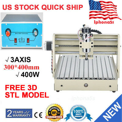 3 Axis 3040 400W CNC Router 3D Engraver Engraving Drilling/Milling Machine+MACH3