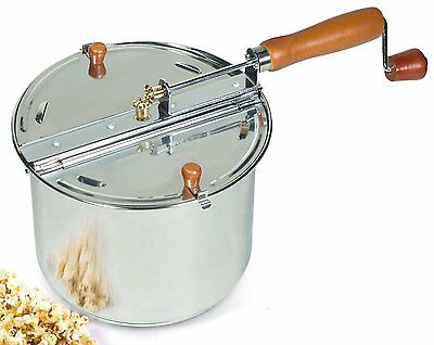 Cook N Home 6.5Quart Stainless Steel Popcorn Popper Stovetop(NC-00289)BRAND NEW