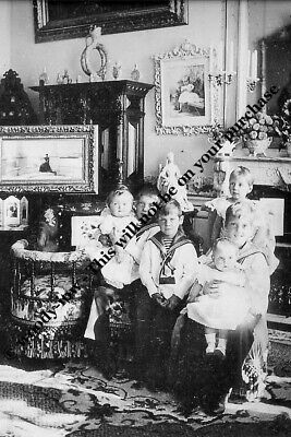 mm806 - young royal Danish cousins in 1896   - Royalty photo