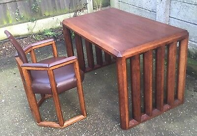 Very Rare Arts & Crafts Mckintosh Style Writing Table/desk & Matching Chair