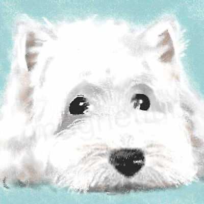 Magnet Picture West Highland White Scotty Terrier Dog