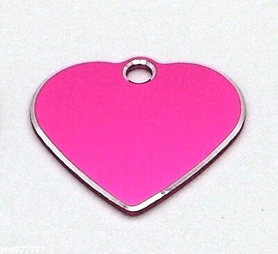 Milled Edge Small Heart pet id tags