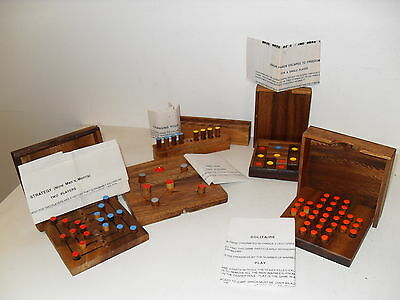 Unusual Wood Puzzle Games - 5 different !