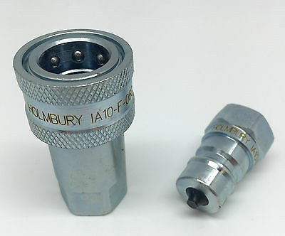 """Quick Release Fitting Bsp Hydraulic Connectors/Couplings Iso A - 1/4"""" - 1"""""""