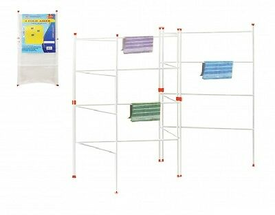 2 3 And 4 Clothes Airer Fold Indoor Gate Concertina Dryer Folding Horse Laundry