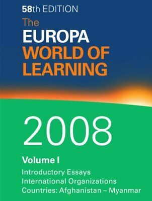The Europa World of Learning 2008 (2v.) by Taylor & Francis