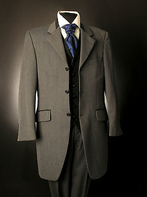 Mj-138 Mens 2Pc Light Grey Long Morning Suit Wedding / Ascot / Formal Event