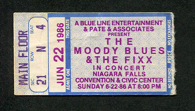 1986 Moody Blues The Fixx concert ticket stub Niagara Falls Other Side Of Life