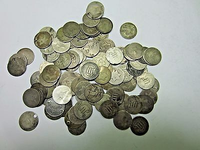 (3) Random SILVER Three Cent Coin (3 Cent) Lot // 3 Coins // Low Grade