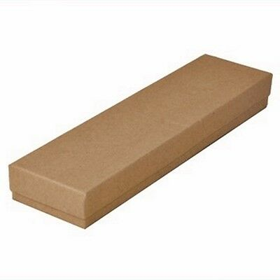 Wholesale Lot 200 Kraft Brown Cotton Filled Jewelry Packaging Gift Boxes 8""