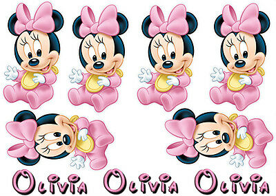 job lot Minnie Mouse Iron On Transfers Ideal to Create Baby bibs / vests XMAS!