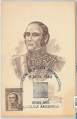 Religion Pope Pio Xii Maximum Card 1959 Argentina Postal History 68615