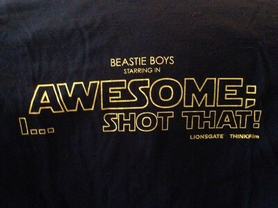 Beastie Boys Movie Awesome I ....Shot That T Shirt Size XL Black Rare