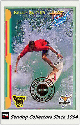 1993 Futera HOT SURF Trading Cards Special Gold Card Kelly Slater (LE500)-Rare