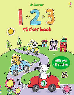 123 Sticker Book (Usborne Sticker Books) (First Sticker Books),New Condition