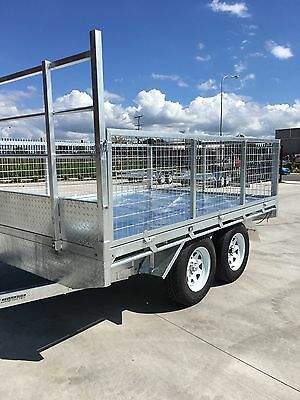 3 X 2.2m FLAT TOP TRAILER HEAVY DUTY NEW  GALVANISED NTH BRISBANE or freight