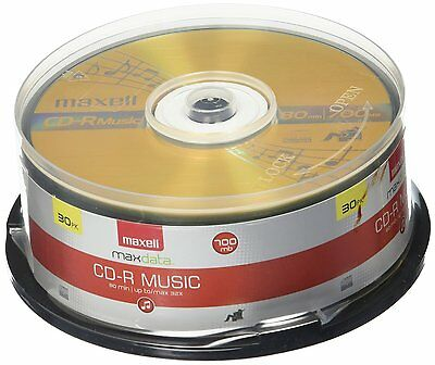 Maxell 30-Pack Music 80x / 700MB CDR Media For Audio (625335) (Brand New) CXX