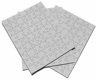 """Inovart Puzzle-It Blank Puzzles 63 Piece 8-1/2"""" x 11"""" - 12 Per Package (2718)"""