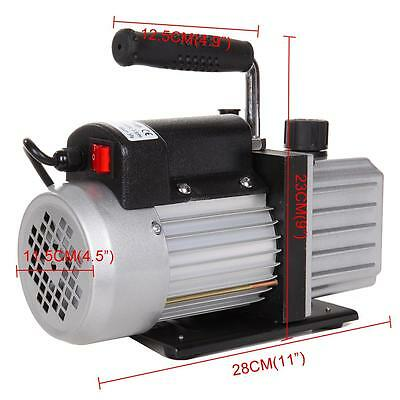 Single Stage 2.5CFM 1/4HP Rotary Vane Deep Refrigeration Vacuum Pump EU Plug