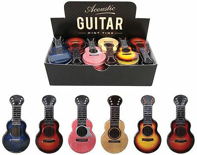 Sugarfree Mints In An Attractive Acoustic Guitar Design Tin