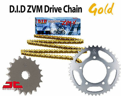 Yamaha FJ1200/FJ1200 A 95-96 DID HEAVY DUTY GOLD X-Ring Chain and Sprocket Kit