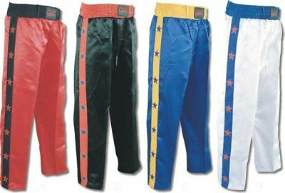 MAR KICKBOXING FREESTYLE SILK Trousers With STARS Down Leg - KIDS Sizes