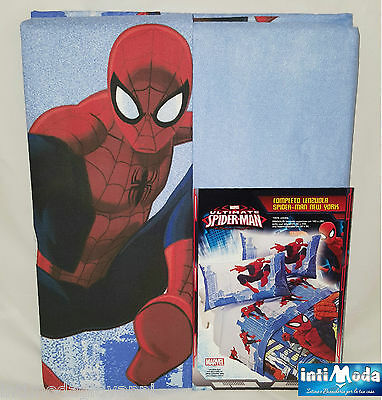 Completo letto lenzuola singolo marvel spiderman - Letto di spiderman ...