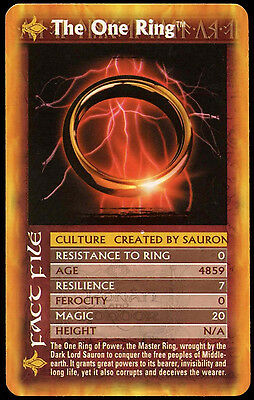 Lord Of The Rings Two Towers - The One Ring - Top Trumps Card  (C51)