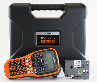 NEW Brother PT-E100 Label Maker P-Touch PTE100 ** Includes: Carrying Case **
