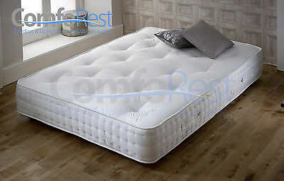 "10"" Supreme Orthopedic 2000 Pocket Mattress Luxury Damask Cover Tufted -"