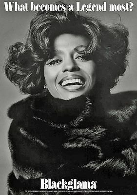 Vintage BLACKGLAMA Print Ad with DIANA ROSS - Proof - Mint Condition