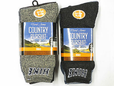 David James Mens Cotton Rich Outdoor Boot Thermal Warm Winter Thick Hike Socks