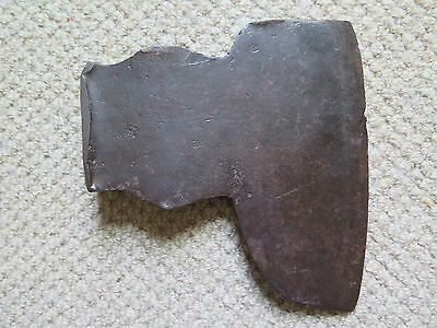 AXE HEAD VERY LARGE BLACKSMITH MADE before 1900 & CUT DOWN 6 1/2 pound 3 Kilo++