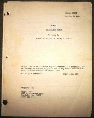 """TV Movie Script  """"Miracle at Beekman's Place"""" Boyle"""