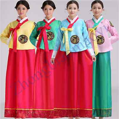 2016 Korean Traditional Clothing Hanbok Floral Women Dress Stage Clothing Top