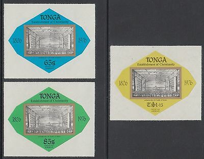 Tonga 1976 150th Anniv of Christianity set of 3 Officials MNH