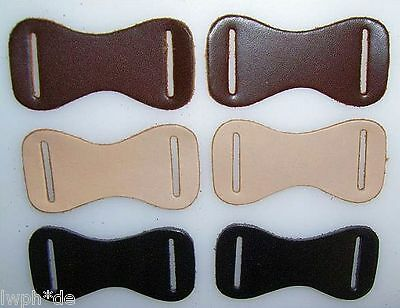 50 Leather Molded parts black with 2 Long holes Crafts Models form LWPH
