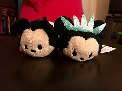NYC LE Exclusive Disney Tsum Tsum Minnie Statue of Liberty and I LOVE NY Mickey