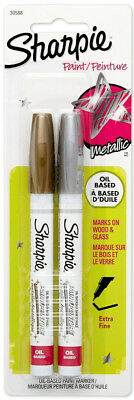 Sharpie Opaque Oil Based Paint Markers Metallic Extra Fine Point Gold & Silver