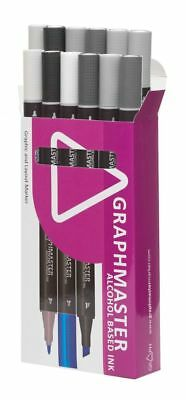 Graphmaster Grafikmarker 12 Set E Cold Grey