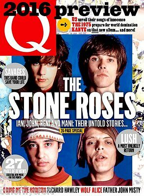 Q magazine 255 The Stone Roses 26-Page Special U2 Biffy Clyro Guy Garvey Savages