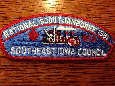 MINT 1981 JSP Southeast Iowa Council Red Border