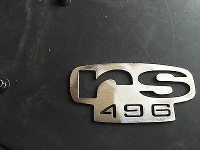 "Plasma cut ""rs 496"" logo Metal Man Cave/Garage Wall Art"