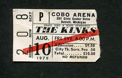 1978 The Kinks Ian Hunter Shooting Star concert ticket stub Detroit Low Budget
