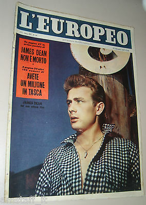 Europeo=1956/40=James Dean Cover Magazine + Article 7 Pages And Photo=