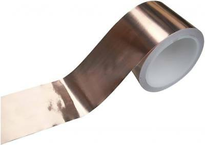 EMI COPPER FOIL SHIELDING TAPE 50mm x 1m LOW IMPEDANCE CONDUCTIVE ADHESIVE