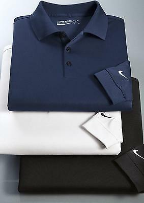 NIKE GOLF Mens Long Sleeve Dri-Fit Stretch Tech Polo 466364
