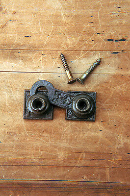 Antique Victorian Shutter Bar Latch Cast Iron Circa 1880 with screws AH01241601